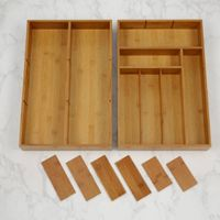 Bamboo Drawer Organizer/Bamboo Flatware Tray/Homex_FSC/BSCI