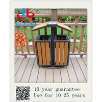 Practical Wooden Plastic Composite Rubbish Can