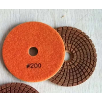 4 inch Metal particle WET polishing pads Diamond tools 100mm hybrid pads resin metal bond flexible g thumbnail image