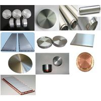 titanium, zirconium, tungsten, molybdenumPure metal and metal alloy sputtering target material list