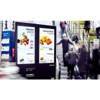 Shopping mall touch screen advertising signage kiosk