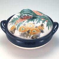 [Kutani ware] No. 10 healthy steaming pot Nanten and Amur adonis thumbnail image