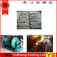 high manganese ball mill liner plate, high manganese cement mill liner plate, high manganese cement