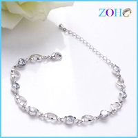 Fashion cute hollow heart shape bracelet chain link bracelets import from China