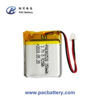 3.7V rechargeable lithium polymer battery 402528 250mAh