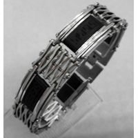 man jewelry stainless steel bracelet with black
