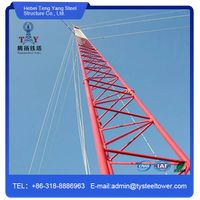 telecommunication guyed tower