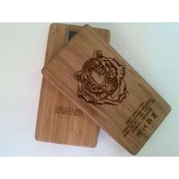NEW!! 5200 mAh portable charger/ power bank with wood & bamboo cover
