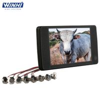 7inch HD plastic shell indoor 12V external button lcd advertising player real supplier
