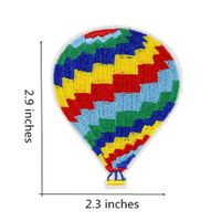 Hot air balloon design patches custom embroidery