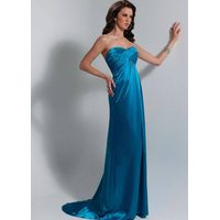 Elegant bridesmaid evening dress made in satin thumbnail image