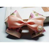 ribbon bow with elastic loop for hair decoration thumbnail image