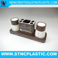 plastic toothbrush holder with cup