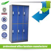 Cupboard Storage 6 Door Steel Metal Locker