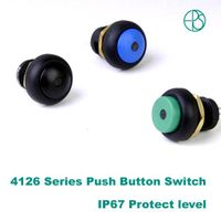 LED waterproof push button switch IP67 protect level