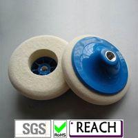 M14 fasterning wool polishing wheel with screw thumbnail image