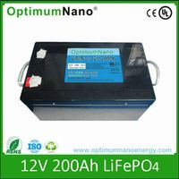 lithium ion battery 12v 200ah deep cycle battery