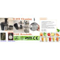 Power Juicer,fruit & vegetables are WITHOUT slicing,capacity 1.0L juice cup