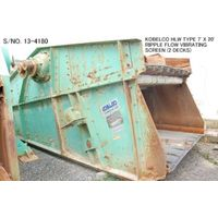 """USED """"KOBELCO"""" HLW TYPE 7' X 20' RIPPLE FLOW VIBRATING SCREEN (2 DECKS) S/NO. 13-4180 WITH MOTOR. thumbnail image"""