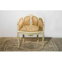Italian style painted and gilded chair
