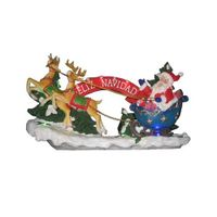 christmas led santa with sleigh thumbnail image
