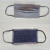 silver fiber cotton face mask