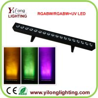cheap 18PCS RGABW led wall washer,China stage light factory,5in1 led wash light,led color bank