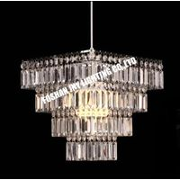 Elegant Chandelier Design Ceiling Pendant Light Shade with Beautiful Clear Acrylic Jewel Effect Drop