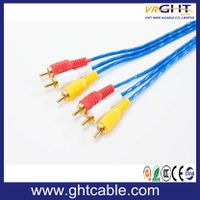 3.5mm-3RCA Male to Male Audio Cable