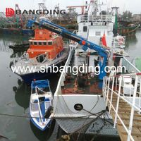 Electric Shipyard Hydraulic Cargo marine deck Crane