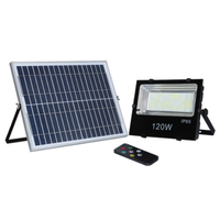 120W solar remote control floodlight emergency light for project thumbnail image