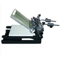 1 Color Screen Printing Machine 3 Pallets Fine Adjust