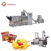 frying doritos corn chips twin screw extruder making machine