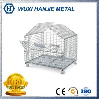 Industry foldable metal wire mesh storage cage