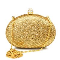 Sequins Stainless Steel Evening Clutches