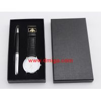 promotion gift quartz watch with pen packaging box perfect gift