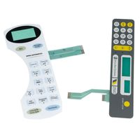 flat membrane switch with lcd window display