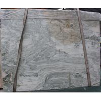 Chinese Landscape Painting Marble Slabs, Polished Multicolor Marble For Interior Decoration