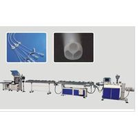 Plastic medical tube extrusion line