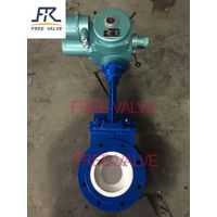 Electric ceramic lined knife gate valve