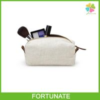 CUSTOMIZED WHOLESALE LINEN CLUTCH BAG LINEN COSMETIC BAG WITH ZIPPER thumbnail image