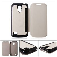 3 in 1 leather combo mobile phone case for Samsung S4 mini phone