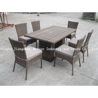 rattan outdoor dining table set