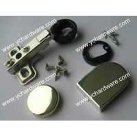 Round or D shape glass hinge