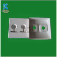 Biodegradable fiber pulp Earphone paper box packaging