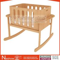 Cubby Plan LMBN-003 High Quality New Wooden Baby Cot