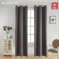 inherent flame retardant fire resistant FR 100% polyester blackout curtains