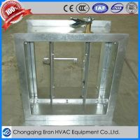 HVAC manual air volume adjustable damper