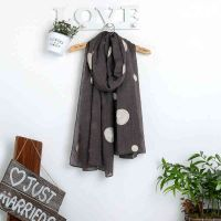 Fashion New Embroidery Vintage Artistic Ethnic Style Cotton Scarf thumbnail image