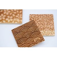 Natural Wooden Handmade Coaster with Japanese Traditional 18 Patterns Made in Japan thumbnail image
